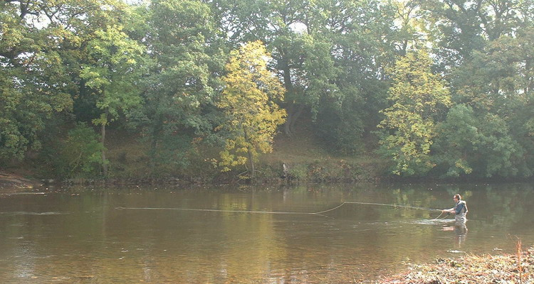 Fly fishing on the River Wye