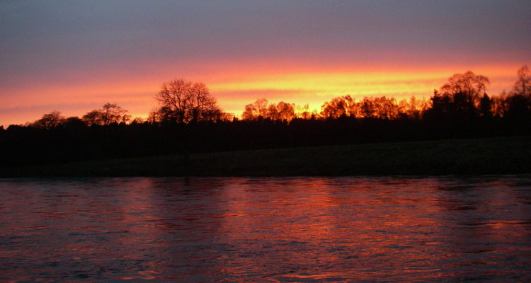 Sunset on the River Dee at Dinnet